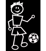 Soccer Male Vinyl Car Decal #SF10