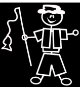 Fishing Male Vinyl Car Decal #SF12