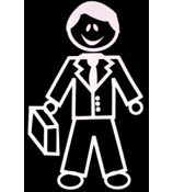 Business Male Vinyl Car Decal #SF16