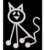 Cat Vinyl Car Decal #SF18