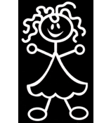 Frilly Girl Vinyl Car Decal #SF20