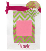 "Pink and Green Chevron 4"" x  6"" Sticky Note Frame #0850-46"