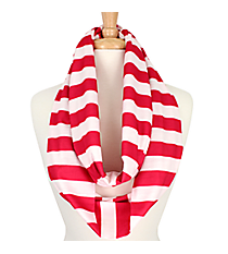 Hot Pink Stripes Infinity Scarf #STR589-H/PINK