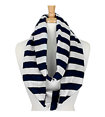 Navy Stripes Infinity Scarf #STR589-NAVY