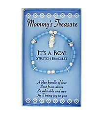 It's A Boy Stretch Bracelet #MOMT-B