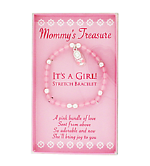 It's A Girl Stretch Bracelet #MOMT-G