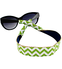 Lime and White Chevron with Navy Sunglass/Eyeglass Strap #STRP-LMNV