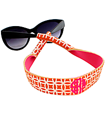 Orange and White Interlocking Circles with Pink Sunglass/Eyeglass Strap #STRP-ORPK