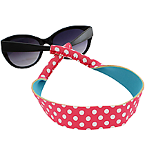 Pink and White Polka Dots with Turquoise Sunglass/Eyeglass Strap #STRP-PKTQ