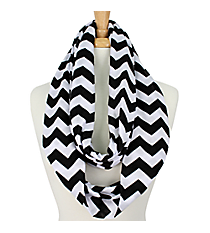 Black and White Chevron Infinity Scarf #SVSF-BLK/WHT
