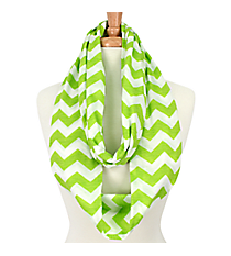 Green and White Chevron Infinity Scarf #SVSF-GREEN
