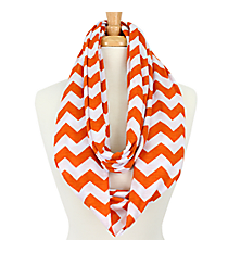Orange and White Chevron Infinity Scarf #SVSF-ORANGE