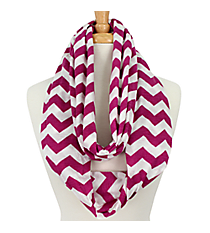 Purple and White Chevron Infinity Scarf #SVSF-PURPLE