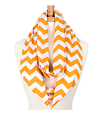 Yellow and White Chevron Infinity Scarf #SVSF-YELLOW