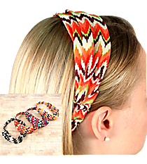 One Multi-Color Electric Chevron Headband #SW1790-SHIPS ASSORTED