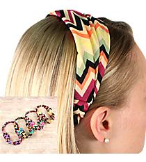 One Multi-Color Chevron Headband #SW1794-SHIPS ASSORTED