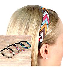 One Multi-Color Woven Chevron Headband #SW1806-SHIPS ASSORTED