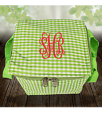 Lime Gingham Insulated Mini Square Lunch Tote #SW180938
