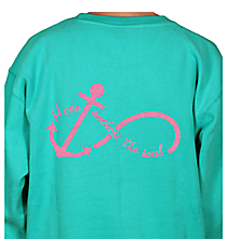 """Hope Anchors the Soul"" Ladies Relaxed Fit Boxy Crew Sweatshirt *Choose Your Color"