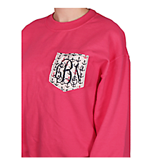 Monogrammed Pocket Applique Heavy-weight Crew Sweatshirt *Customizable!