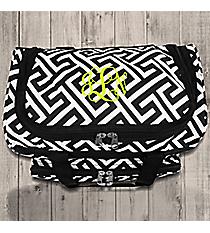 "Black and White Greek Key Maze 13"" Petite Duffle Bag #T13-185-B/W"