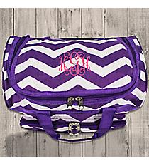"Purple and White Chevron 13"" Petite Duffle Bag #T13-165-AP/W"