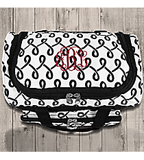 "Black and White Lively Loop 13"" Petite Duffle Bag #T13-186-B/W"