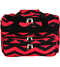 "Black and Fuchsia Chevron 13"" Petite Duffle Bag #T13-165-B/F"