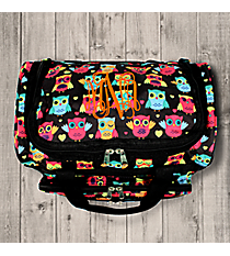 "Neon Owls and Hearts 13"" Petite Duffle Bag #T13-175"