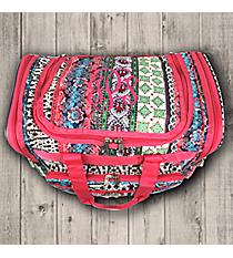 "Bohemian Spirit with Fuchsia Trim 16"" Duffle Bag #T16-647-F"