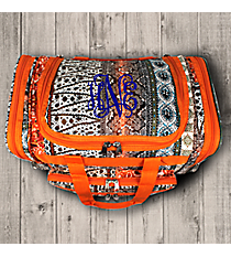 "Bohemian Spirit with Orange Trim 16"" Duffle Bag #T16-648-OR"