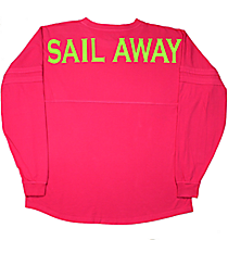 """Sail Away"" Women's Pom Pom Pullover #T14 *Choose Your Colors"