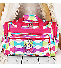 "Pastel Bow Ties Duffle Bag 16"" #T16-189"