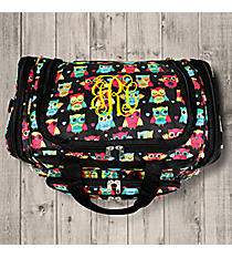 "Neon Owls and Hearts 16"" Duffle Bag #T16-175"