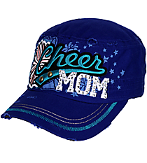 Cheer Mom Distressed Royal Blue Cadet Cap #T21CHM01-ROY