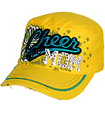 Cheer Mom Distressed Yellow Cadet Cap #T21CHM01-YEL