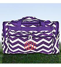"Purple and White Chevron 22"" Duffle Bag #T22-165-AP/W"