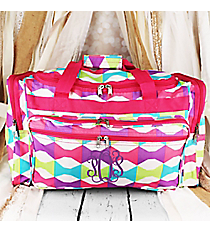 "Pastel Bow Ties Duffle Bag 22"" #T22-189"