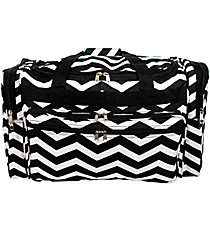 "Black and White Chevron 22"" Duffle Bag #T22-165-B/W"