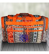 "Bohemian Spirit with Orange Trim 22"" Duffle Bag #T22-648"