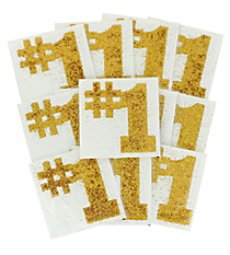 One Dozen Gold #1 Glitter Tattoos #13606048