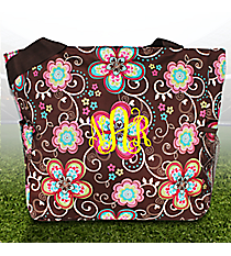 Flower Bliss Brown Oversized Tote #TB3015-161