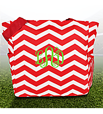Red and White Chevron Oversized Tote #TB3015-165-R/W