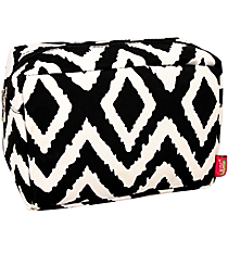 Black Aztec Chevron Cosmetic Case #TB613-BLACK