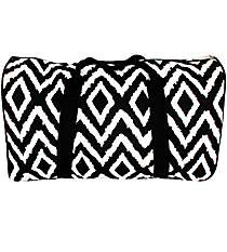 "20"" Black Aztec Chevron Duffle Bag #TB641-BLACK"