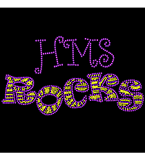 "Dazzling ""My Team Rocks"" 5.25"" x 9.75"" Rhinestone Applique Iron-On TCH10 *Personalize Your Initials and Colors"