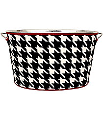 Houndstooth with Crimson Trim Cover and Party Tub Set #OMU-TCVR-HT
