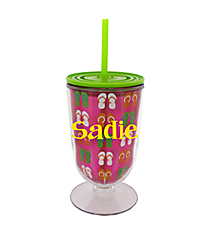 Flip Flop 18 oz. Double Wall Iced Tea Tumbler with Straw #F137206