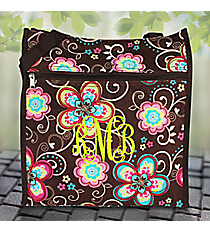 Flower Bliss Brown Shopper Tote #TH3013-161