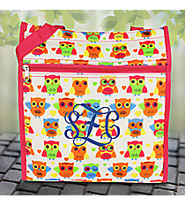 Owls and Hearts with Pink Trim Shopper Tote #TH3013-176